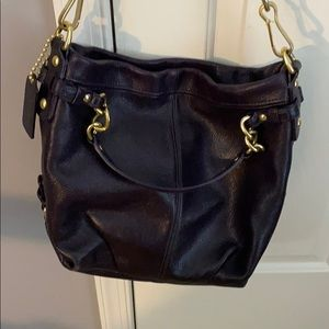 Authentic Coach leather hobo bag